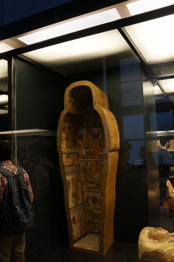 Interior de um sarcófago, ricamente decorado